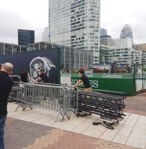 Installation du terrain_de tennis LONGINES