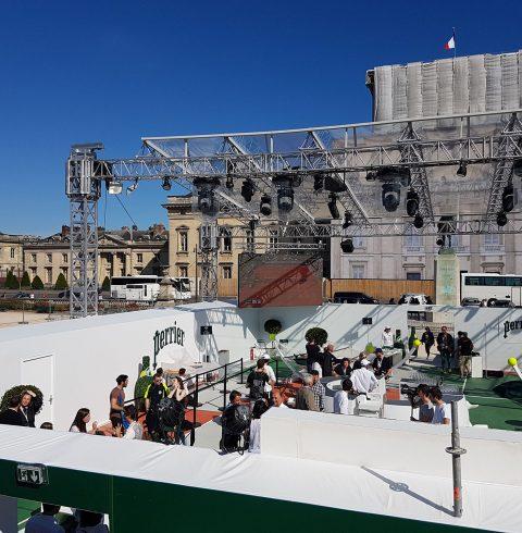 Barriérage, régie pour la tyrolienne Roland Garros